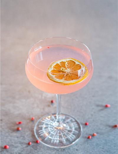Citrus Kiss Cocktail Made with Juno 2019 Spring Seasonal Gin