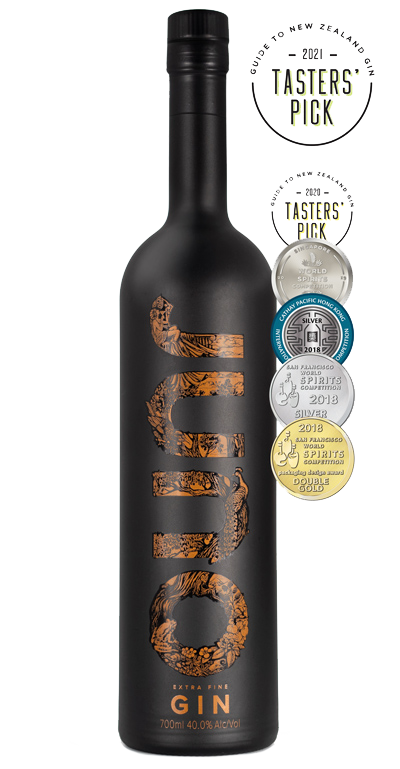 Juno Extra Fine Gin 700ml Bottle Product Image with 6 awards